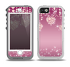 The Pink Sparkly Chandelier Hearts Skin for the iPhone 5-5s OtterBox Preserver WaterProof Case