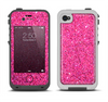 The Pink Sparkly Glitter Ultra Metallic Apple iPhone 4-4s LifeProof Fre Case Skin Set