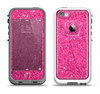 The Pink Sparkly Glitter Ultra Metallic Apple iPhone 5-5s LifeProof Fre Case Skin Set