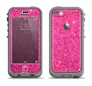 The Pink Sparkly Glitter Ultra Metallic Apple iPhone 5c LifeProof Nuud Case Skin Set