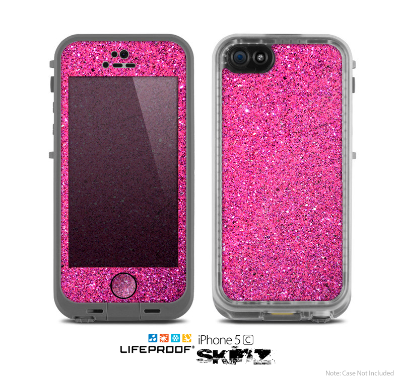 sports shoes 88e17 32d33 The Pink Sparkly Glitter Ultra Metallic Skin for the Apple iPhone 5c  LifeProof Case