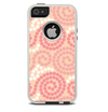 The Pink Spiral Polka Dots Skin For The iPhone 5-5s Otterbox Commuter Case