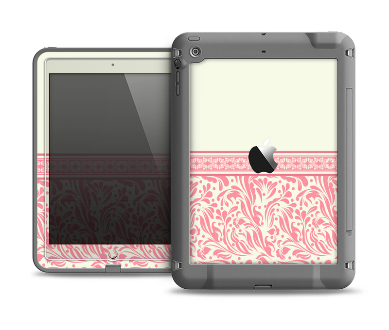 The Pink & Tan Polka Dot Pattern V1 Apple iPad Air LifeProof Fre Case Skin Set