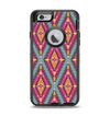 The Pink & Teal Abstract Mirrored Design Apple iPhone 6 Otterbox Defender Case Skin Set