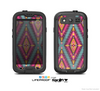 The Pink & Teal Abstract Mirrored Design Skin For The Samsung Galaxy S3 LifeProof Case