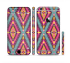 The Pink & Teal Abstract Mirrored Design Sectioned Skin Series for the Apple iPhone 6