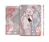 The Pink & Teal Lace Design Full Body Skin Set for the Apple iPad Mini 3