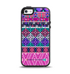 The Pink & Teal Modern Colored Aztec Pattern Apple iPhone 5-5s Otterbox Symmetry Case Skin Set