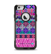 The Pink & Teal Modern Colored Aztec Pattern Apple iPhone 6 Otterbox Commuter Case Skin Set