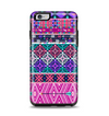 The Pink & Teal Modern Colored Aztec Pattern Apple iPhone 6 Plus Otterbox Symmetry Case Skin Set