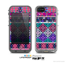 The Pink & Teal Modern Colored Aztec Pattern Skin for the Apple iPhone 5c LifeProof Case