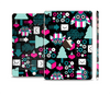 The Pink & Teal Owl Collaged Vector Shapes Full Body Skin Set for the Apple iPad Mini 3