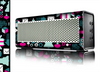 The Pink & Teal Owl Collaged Vector Shapes Skin for the Braven 570 Wireless Bluetooth Speaker