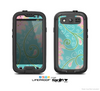 The Pink & Teal Paisley Design Skin For The Samsung Galaxy S3 LifeProof Case