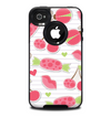 The Pink Sweet Treats Pattern Skin for the iPhone 4-4s OtterBox Commuter Case