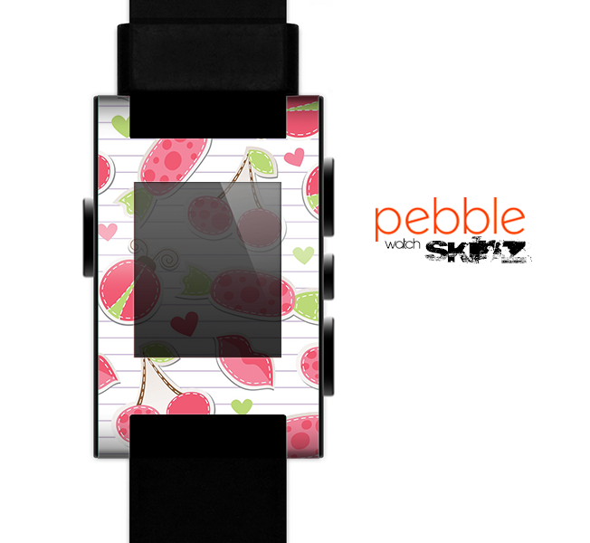 The Pink Treats N' Such Skin for the Pebble SmartWatch