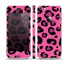 The Pink Vector Cheetah Print Skin Set for the Apple iPhone 5