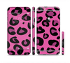 The Pink Vector Cheetah Print Sectioned Skin Series for the Apple iPhone 6 Plus