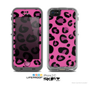 The Pink Vector Cheetah Print Skin for the Apple iPhone 5c LifeProof Case