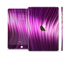 The Pink Vector Swirly HD Strands Full Body Skin Set for the Apple iPad Mini 3
