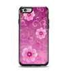 The Pink Vintage Flowers with Swirls Apple iPhone 6 Otterbox Symmetry Case Skin Set