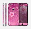 The Pink Vintage Flowers with Swirls Skin for the Apple iPhone 6