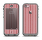 The Pink Vintage Stripe Pattern v7 Apple iPhone 5c LifeProof Nuud Case Skin Set