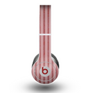 The Pink Vintage Stripe Pattern v7 Skin for the Beats by Dre Original Solo-Solo HD Headphones