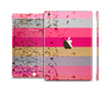 The Pink Water Stripes Full Body Skin Set for the Apple iPad Mini 3