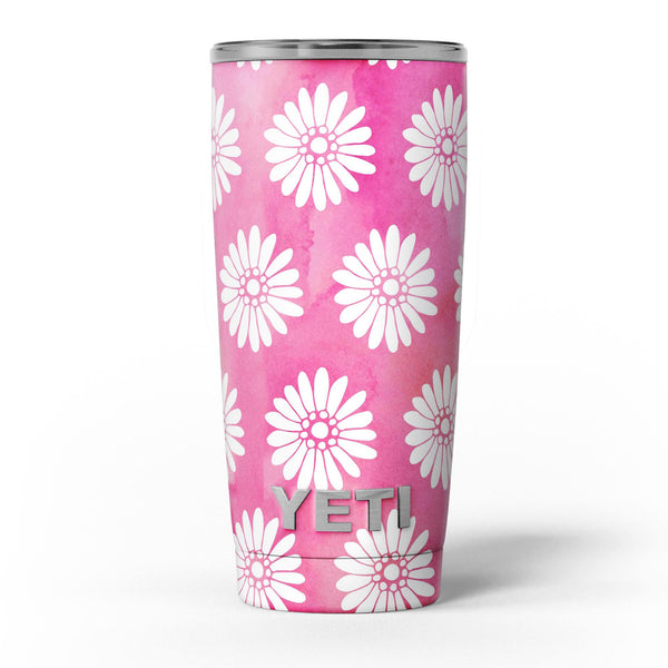 The_Pink_Watercolor_Grunge_Surface_with_White_Floral_Pattern_-_Yeti_Rambler_Skin_Kit_-_20oz_-_V5.jpg