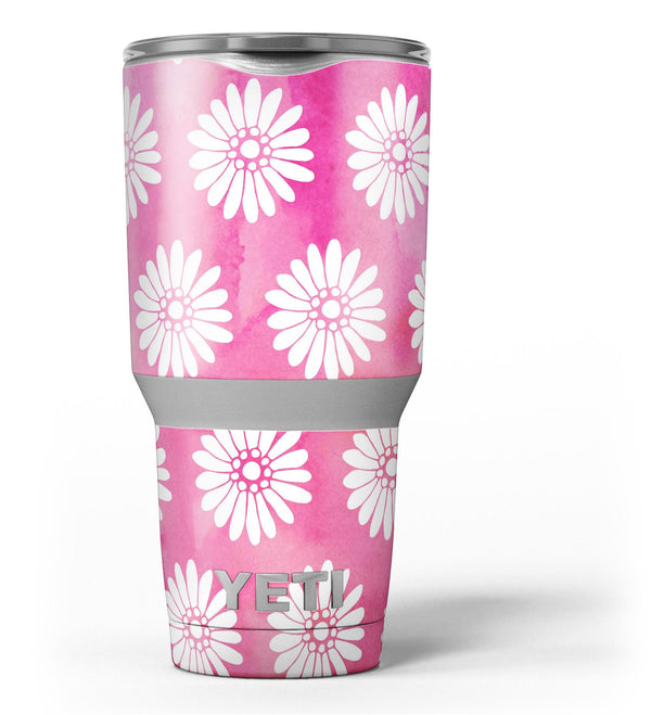 The_Pink_Watercolor_Grunge_Surface_with_White_Floral_Pattern_-_Yeti_Rambler_Skin_Kit_-_30oz_-_V3.jpg