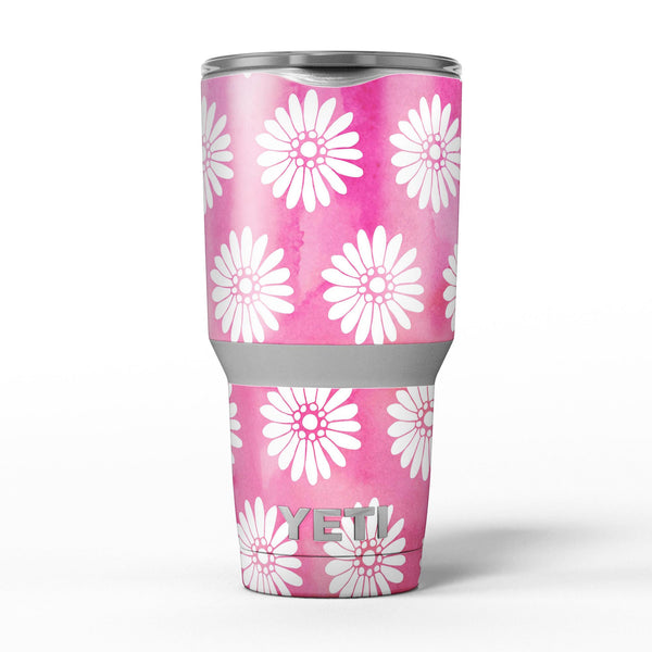 The_Pink_Watercolor_Grunge_Surface_with_White_Floral_Pattern_-_Yeti_Rambler_Skin_Kit_-_30oz_-_V5.jpg