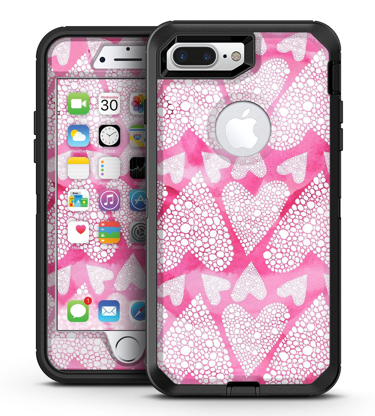 iphone 8 plus otterbox case pink
