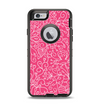 The Pink & White Abstract Illustration V3 Apple iPhone 6 Otterbox Defender Case Skin Set