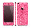 The Pink & White Abstract Illustration V3 Skin Set for the Apple iPhone 5