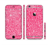 The Pink & White Abstract Illustration V3 Sectioned Skin Series for the Apple iPhone 6