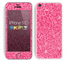 The Pink & White Abstract Illustration V3 Skin for the Apple iPhone 5c