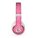 The Pink & White Abstract Illustration V3 Skin for the Beats by Dre Studio (2013+ Version) Headphones