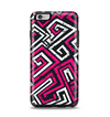 The Pink & White Abstract Maze Pattern Apple iPhone 6 Plus Otterbox Symmetry Case Skin Set
