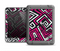 The Pink & White Abstract Maze Pattern Apple iPad Air LifeProof Fre Case Skin Set