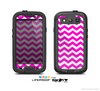 The Pink & White Chevron Pattern Skin For The Samsung Galaxy S3 LifeProof Case