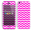 The Pink & White Chevron Pattern Skin for the Apple iPhone 5c