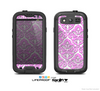 The Pink & White Delicate Pattern Skin For The Samsung Galaxy S3 LifeProof Case