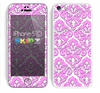 The Pink & White Delicate Pattern Skin for the Apple iPhone 5c