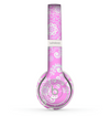 The Pink & White Lace Pattern Skin Set for the Beats by Dre Solo 2 Wireless Headphones
