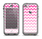 The Pink & White Ombre Chevron Pattern Apple iPhone 5c LifeProof Nuud Case Skin Set