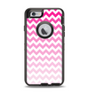 The Pink & White Ombre Chevron Pattern Apple iPhone 6 Otterbox Defender Case Skin Set