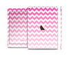 The Pink & White Ombre Chevron Pattern Skin Set for the Apple iPad Pro