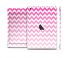The Pink & White Ombre Chevron Pattern Skin Set for the Apple iPad Mini 4