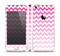 The Pink & White Ombre Chevron Pattern Skin Set for the Apple iPhone 5